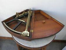 Ebony & Bone Octant Sextant in Wood Case Nautical Maritime Instrument Th Hemsley
