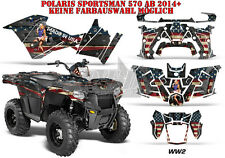AMR Racing DECORO GRAPHIC KIT ATV POLARIS SPORTSMAN modelli World era 2/ww2 B