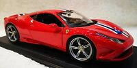 MAISTO 1:18 Scale Ferrari 458 Speciale Red & Stripes Diecast Model Car SEE VIDEO