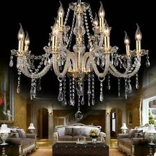Elegant Crystal Glass Chandelier Ceiling Lighting Fixture 6-15 Light Pendant Us