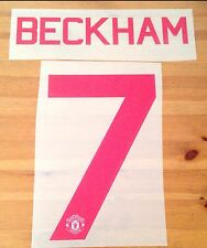 2015-16 Manchester Utd Légende Away UCL & FA Cup shirt BECKHAM #7 Name Number Set
