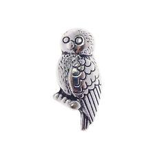 Pack of 30 Vintage Silver Cute Owl Look Metal Beads Charms Pendants 16x18 MM