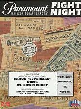 AARON DAVIS vs EDWIN CURET ONSITE BOXING PROGRAM JANUARY 27, 1993