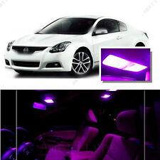 For Nissan Altima Coupe 2008-2013 Pink LED Interior Kit + Pink License Light LED