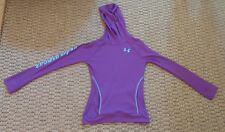 Under Armour girls fitted purple waffle hoodie size Youth Medium