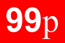 99p Pound Sale Rail Double Sided Sign Card Retail Shop Display - High Quality