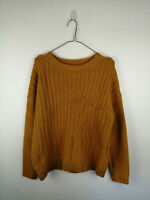 WOMENS GEORGE KNIT JUMPER SIZE M YELLOW CREW NECK WARM COSY STYLE CLASSIC TOP