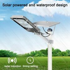 300W LED Solar Street Light Waterproof Radar Induction Wall Timing Lamp + Remote