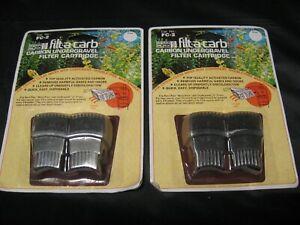 Vintage 1987 PENN PLAX Filt-A-Carb FC-2 Carbon Filter Cartridge Lot of 2 NEW!