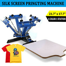 4 Color 1 Station Silk Screen Printing Machine T-Shirt Press Equipment DIY