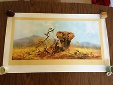 DAVID SHEPHERD LIMITED SIGNED ELEPHANT AND THE ANT HILL #780