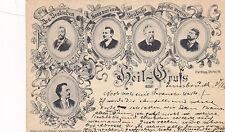 Postcard HEIL GRUSS aus INNSBRUCK famous Austrians 1916 UDB nice cancel