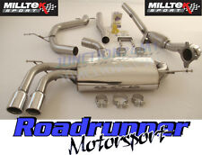 Milltek A3 1.8 TSI 08-12 Exhaust Turbo Back Non Res System Inc Decat Downpipe