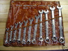 "Wrench Set, Combination Wrench Set 11-Piece  3/8-1"" New"