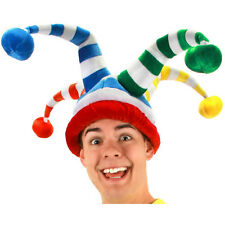 Silly Wacky Jester Clown Fool Adult Halloween Costume Accessory Hat