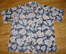 Men's Cooke Street Hawaiian Reverse Print Cotton Button Down SS Shirt,  2XL