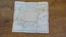1808 ORIGINAL MAP OF SPAIN AND PORTUGAL BACKED ON LINEN