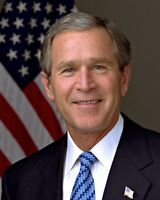 OP-465 BUSH 2005-8X10 PHOTO BILL CLINTON /& NEWLY-ELECTED PRESIDENT GEORGE W