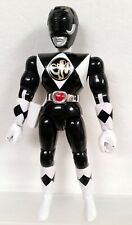 "Power Rangers 1994 Mighty Morphin Karate Action 8"" Zack Black Ranger figure b"