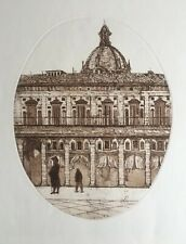 "RICHARD BEER 1928-2017 Large Original ETCHING ""Palermo, Italy"