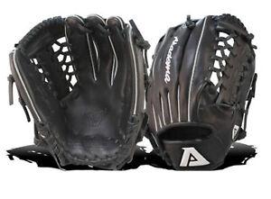 Akadema Precision Series ASB104 Baseball Softball Glove RHT Black