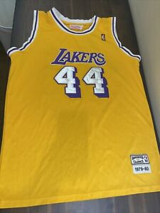 Authentic Los Angeles Lakers Jerry West Mitchell And Ness Jersey Size. Used 52
