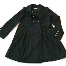Flaw Missing Button Liz Lange Maternity Coat Jacket Sz S Fall Long Trench Black