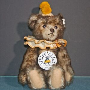 Steiff Club Edition 1993 Teddy Clown 420023 Jointed Bear 10.5