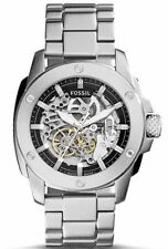 Fossil ME3081 Automatic Skeleton Dial Silver Band 50mm Men's Watch