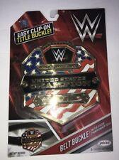 WWE Championship United States Championship Belt Buckle Wwf Wcw Ecw Nxt