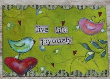 "LEANIN TREE ""Live Life Joyously"" #31255 Refrigerator Magnet~3.5"" x 2.5""~"
