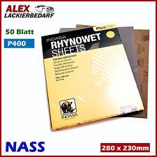 50x P400 Indasa Nass Schleifpapier Bogen 230 x 280 mm Wasserfest