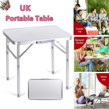 Folding Camping Table Aluminium Picnic Party Bbq Height Adjule Garden Small