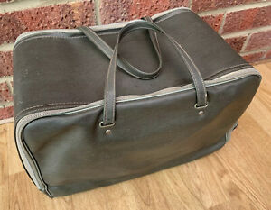 Pick nick basket hamper Cooler Bag Zip Up Vintage Retro Green With Handel's