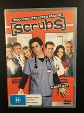 Scrubs DVD --The Complete Sixth Season (4 Discs) --  Brand NEW Sealed - Region 4