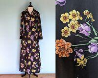 Vintage 70s Two Piece Skirt Set, Vintage 1970s Floral Maxi Skirt and Jacket Set