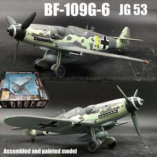 Easy model WWII 1945 German Messerschmitt Bf-109G-6 JG53 1/72 diecast plane