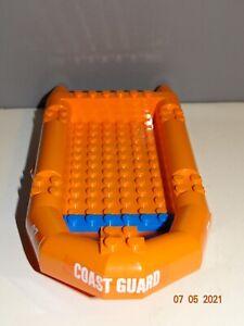 LEGO part # 62812 Orange Coast Guard Boat/ Rubber Raft Large