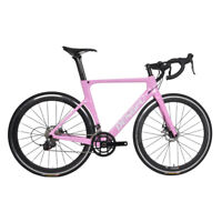 700x28C Alloy Wheels Road Bike Carbon Complete Disc Racing Bicycle Frameset Pink