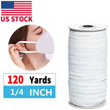 6mm (1/4'') Flat Elastic Band Cord Sewing For DIY Face Mask Masks 120 yards