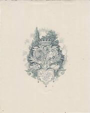 § Ex-libris Pauline von HENZLER, Edle von LEHNENSBURG, par W. BEHRENS, 1894 §