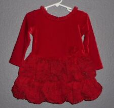 BONNIE BABY by BONNIE JEAN RED Christmas Holiday Dress Infant/Baby Girl 18 Month