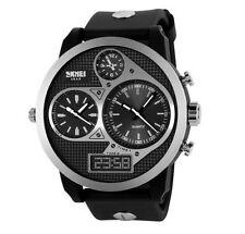 Montre GROS CADRAN Homme - 3 fuseaux horaires – Analogique –  Digitale - Led