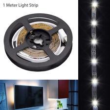 LED TV Backlight Bias Lighting USB Powered LED Strip Bright White Monitor LCD 1m