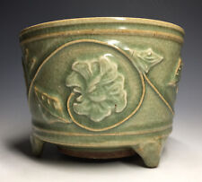 RARE Chinese Song Dynasty Molded Peony Incense-Burner Longquan Zun Lian