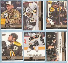 2013-14 Upper Deck UD Canvas Boston Bruins Team Set (9 w/ Hamilton  Spooner RC's