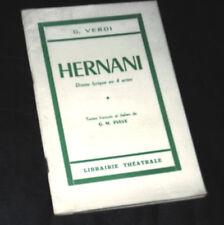 Hernani livret seul Piave opéra Verdi