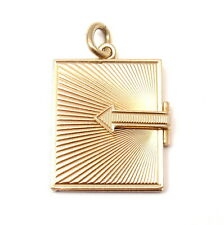 Vintage Tiffany & Co. 14k Rose Gold Passport Book Charm Pendant 1962 11.4g