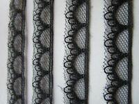 3Meter Spitze Nichtelastisch Schwarz 1.5cm breit Borte 0495