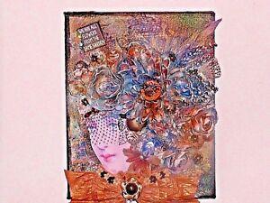 "OOAK Floral Head Bust Canvas Art, ""8""x 10"""